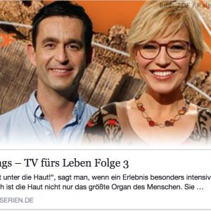 """Schmerztherapie: Foto ZDF-Sendung """"sonntags - TV fürs Leben"""""""