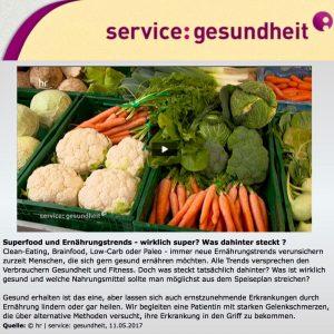 Gelenkschmerzen durch Ernährung lindern: Foto hr-Fernsehen
