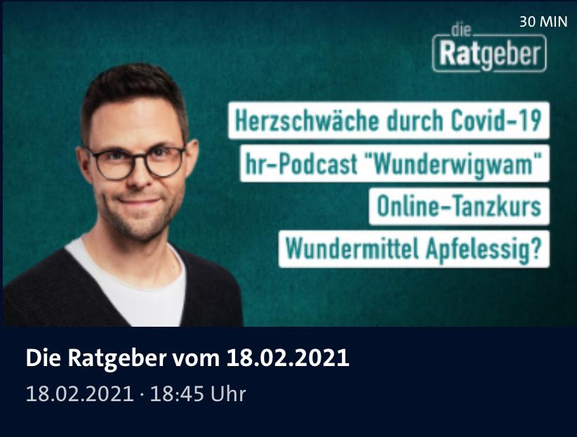 """Screenshot Sendung über Apfelessig von """"Die Ratgeber"""" des hr-Fernsehens"""