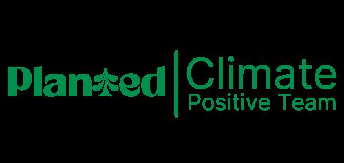 """Praxis Dr. med. Julia Kleinhenz: Badge Planted """"Climate Positive Team"""""""
